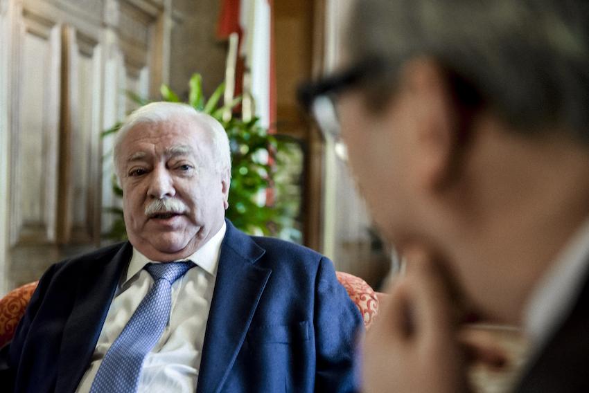 Häupl im Gespräch mit dem Autor im Jänner 2016 / Foto: R. Ferrigato