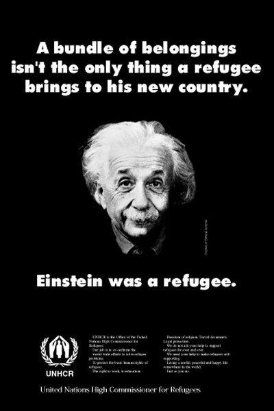 Einstein refugee poster