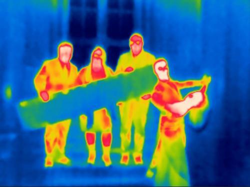 Wärmebildkamera in der Volkshalle / @ F. Kerschbaum